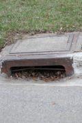 Clogged storm drain