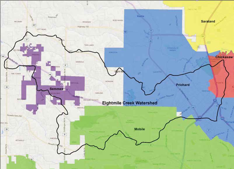 Eight mile watershed