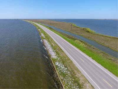 Site of Living Shoreline Project on Dauphin Island Causeway
