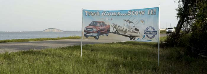 Trash Blows - Don't Be Trashy Campaign Banner