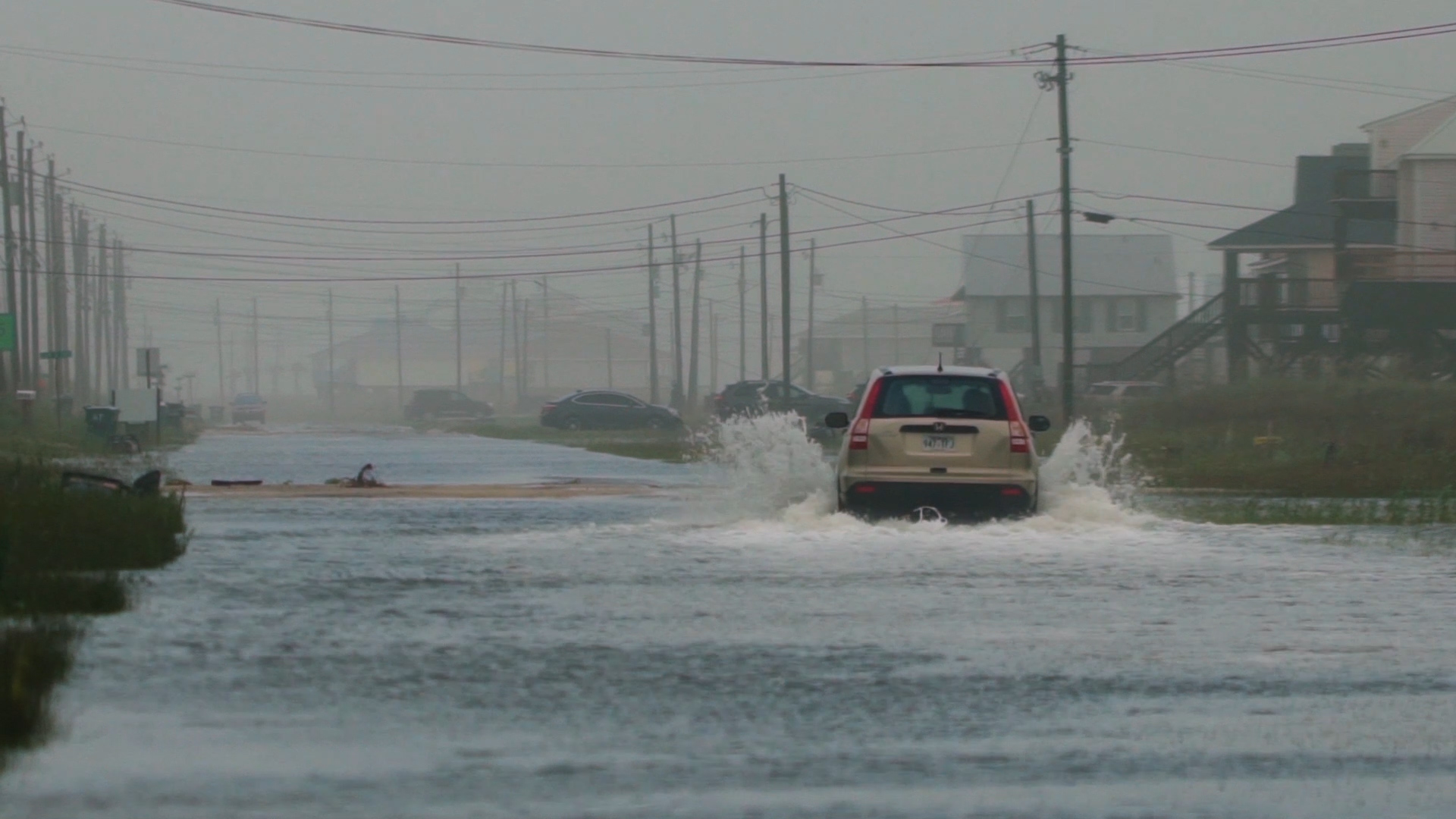 Flooded Street on Dauphin Island